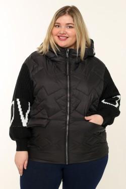 Женская куртка весенне-осенняя 91802 Черный