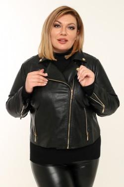 Женская куртка-косуха весенне-осенняя 006 Черный