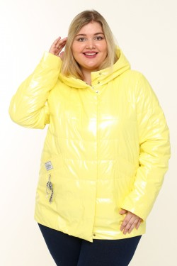 Женская куртка весенне-осенняя 20291 Желтый