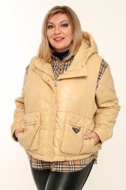 Женская куртка-двойка весенне-осенняя 0670 Белый