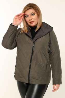 Женская куртка весенне-осенняя 211-131 Хаки