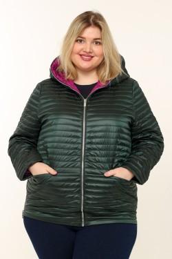 Женская куртка весенне-осенняя 18819 Зеленый