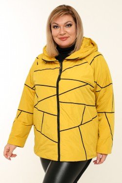 Женская куртка весенне-осенняя 211-42 Горчица