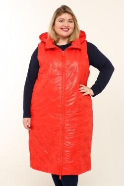 Женская безрукавка весенне-осенняя 20855 Красный