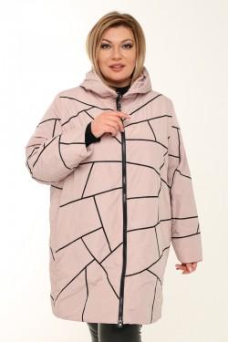 Женское пальто весенне-осенняя 211-41 Пудра