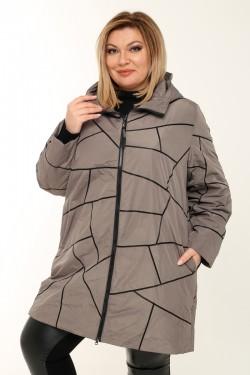 Женское пальто весенне-осенняя 211-41 Капучино