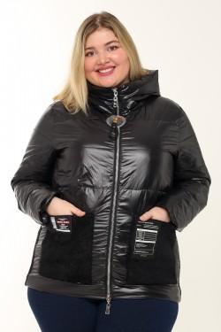 Женская куртка весенне-осенняя 7840 Черный
