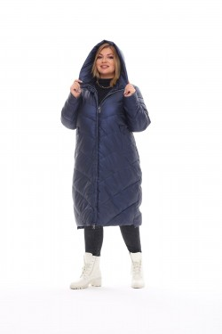 Женское пальто осень-зима 21112 Синий