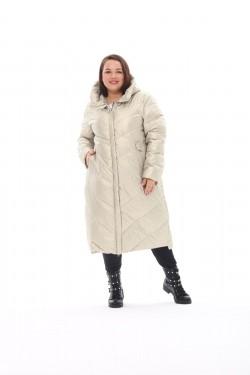 Женское пальто осень-зима 21112 Жемчуг
