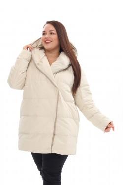 Женское пальто осень-зима 21231 Молоко