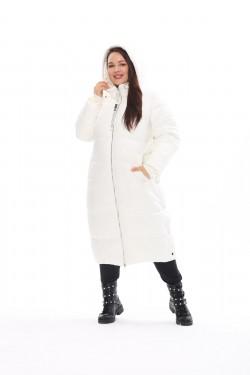 Женское пальто осень-зима 7675 Белый
