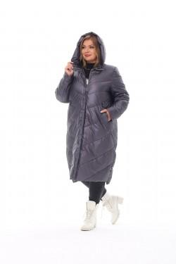 Женское пальто осень-зима 21112 Графит