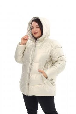 Женское пальто осень-зима 21508 Жемчуг