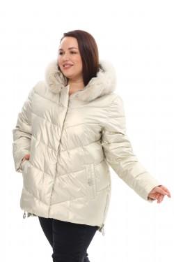 Женское пальто осень-зима 21188 Жемчуг