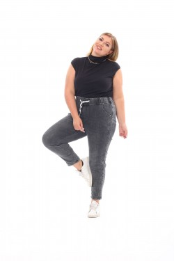 Женские джинсы на кулисе 6135 Серый